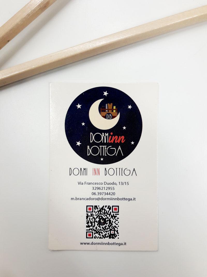 Biglietto da visita Dormi Inn bottega