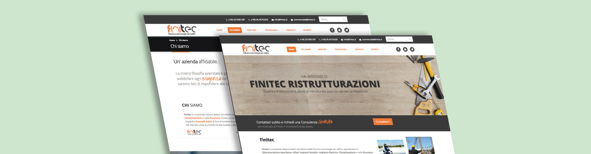 Web design sito finitec for Sito web design piano piano