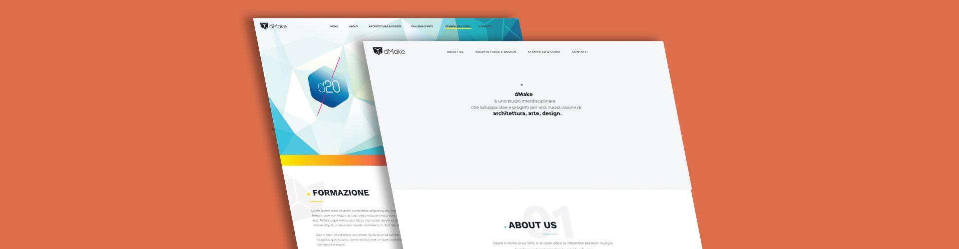 realizzazione sito web DMAKE