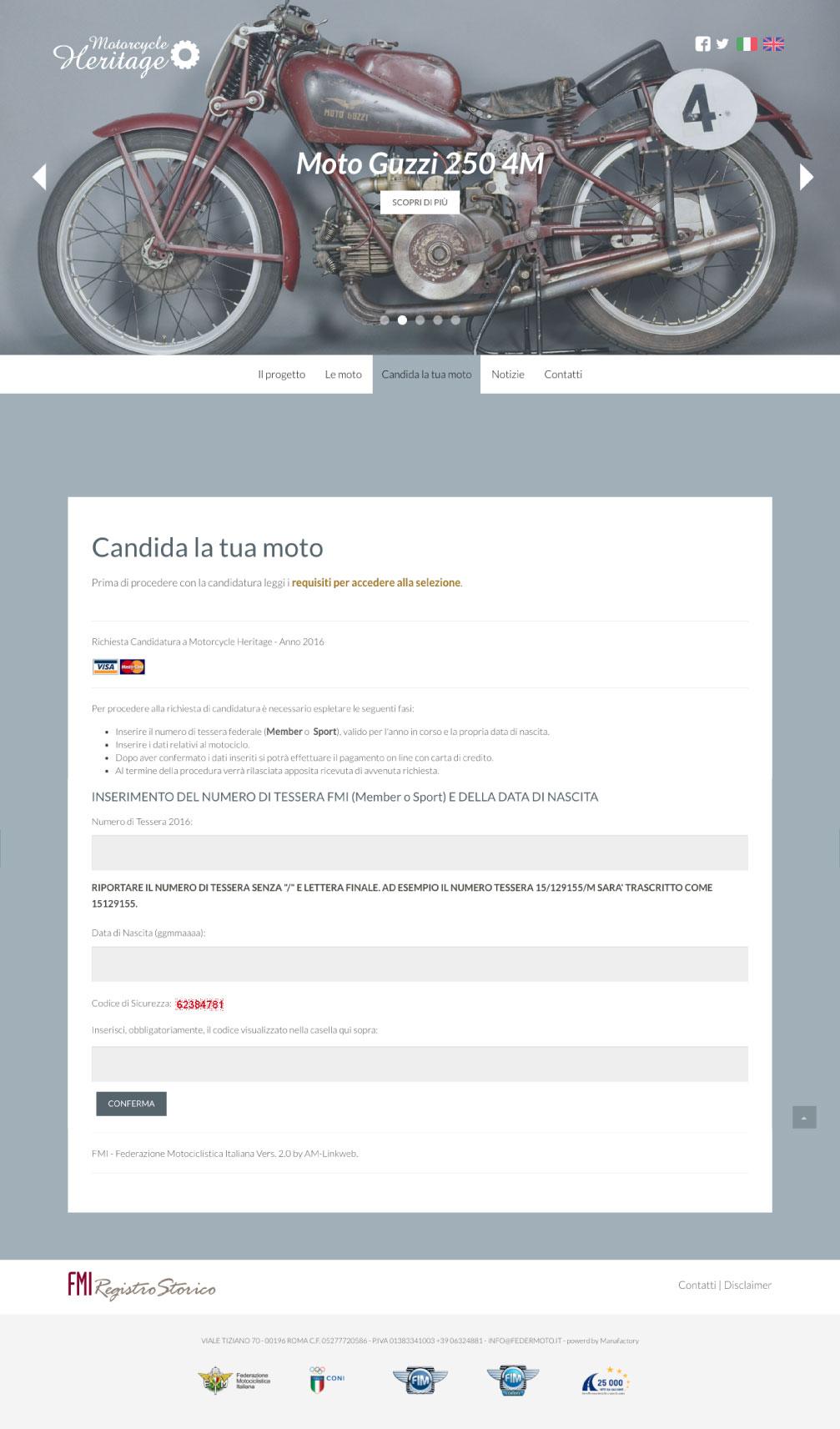 layout Candida la tua Moto