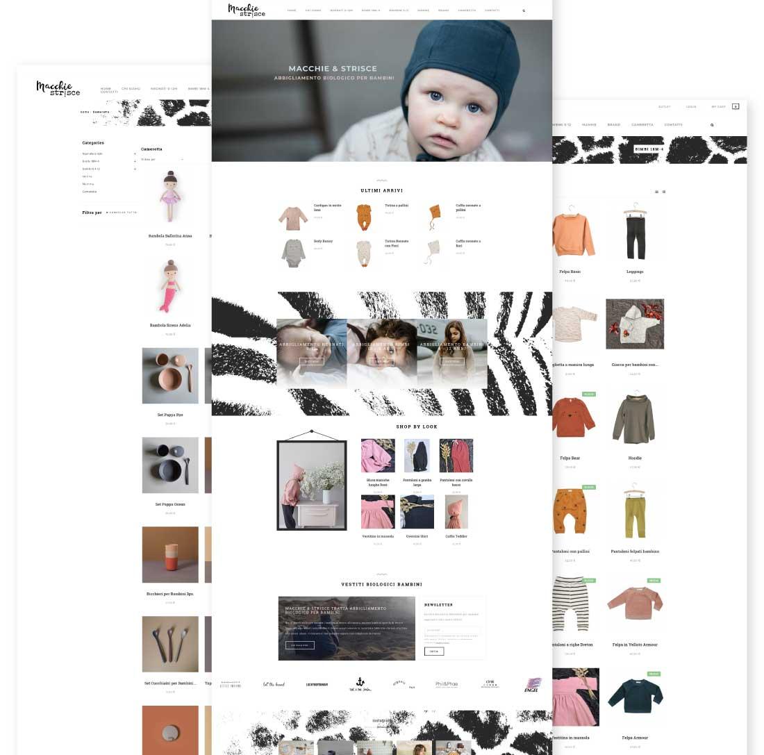 macchie layout schermate