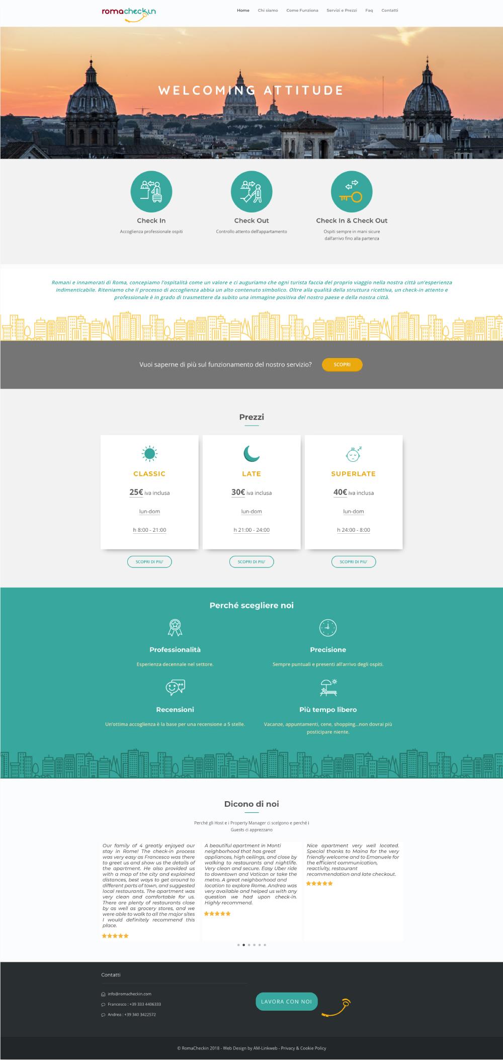 romacheckin layout sito
