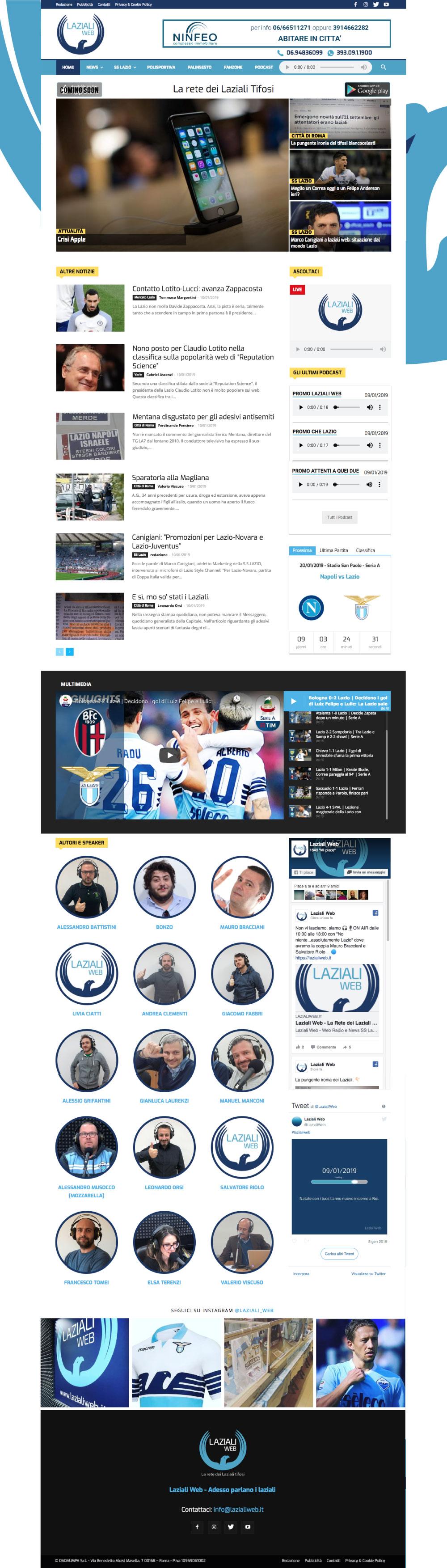 sito per Lazialiweb