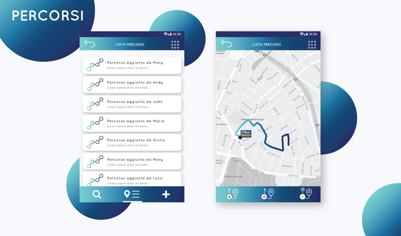 App Mockup up – Mototurismo FMI Percorsi