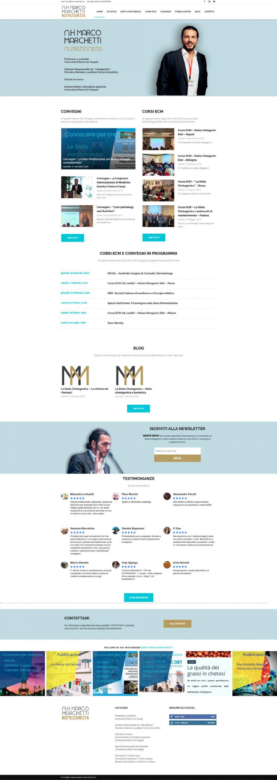 N.H. Marco Marchetti Nutrizionista website layout